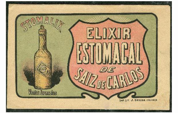 """Elixir Estomacal, Neuranémico"""", """"Dinamogeno"""", """"Reumator"""", """"Purgantina"""" y """"Quinofebrina"""""""