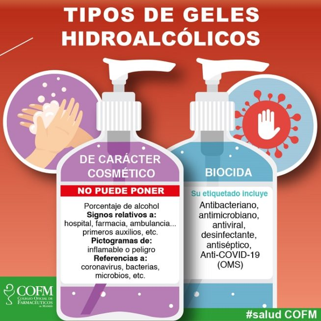 geles hidroalcohólicos